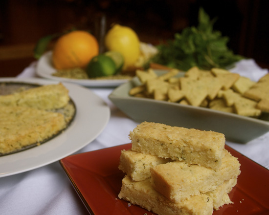 Shortbread and ingredients
