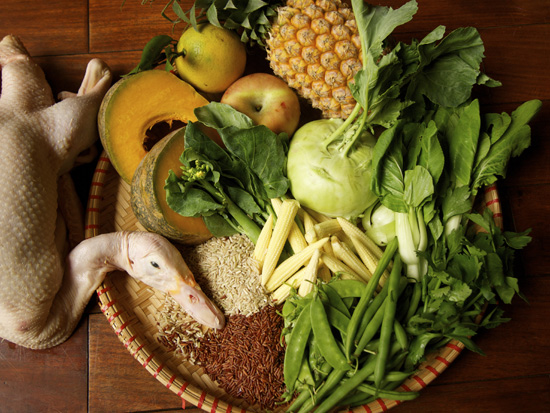 Ingredients for Thanksgiving in Asia