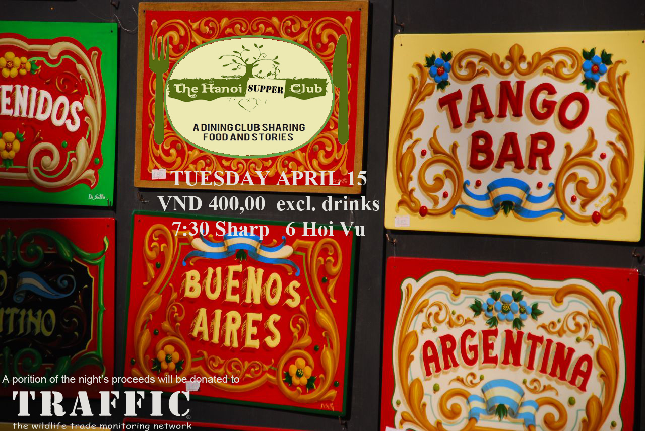 Hanoi Social Supper Club Argentina Dinner Invitation