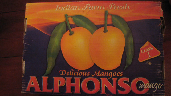 Box of Alphonso Mangoes from India