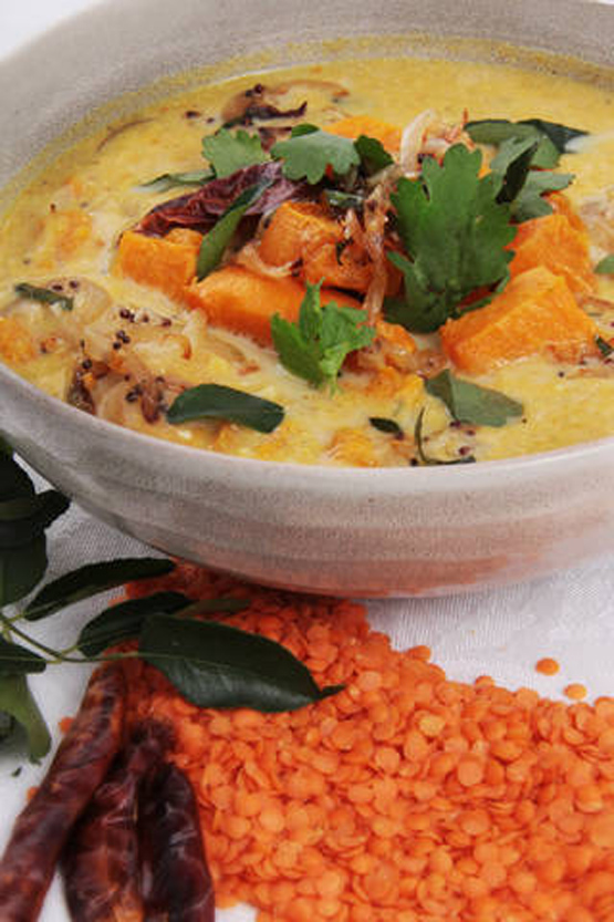 Squash and Red Lentil Dal