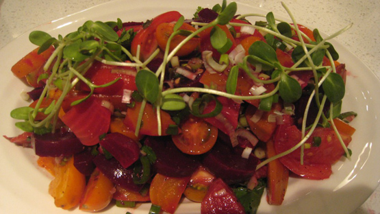 Indian spiced Beet and tomato salad