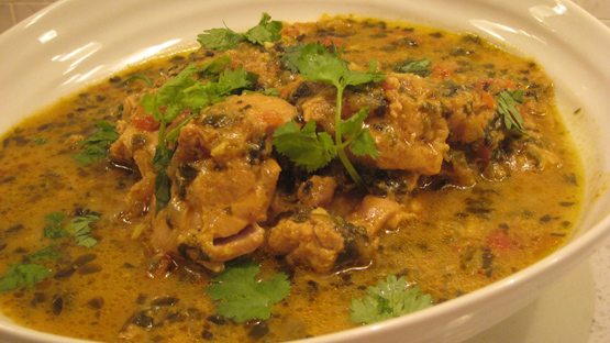 A dish of fenugreek chicken, punjabi style
