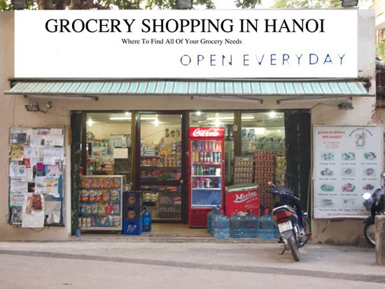 Mini mart in Tay Ho area of Hanoi