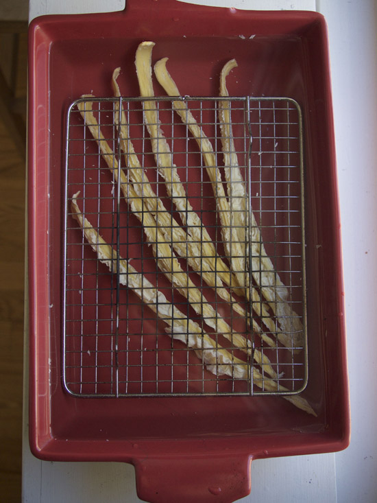 Dried Bean Curd Sticks Rehydrating or Soaking